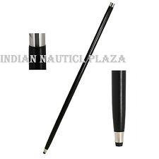 Black Wood Vintage Walking Stick Only For Cane Handle (Only wooden shaft)