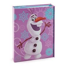 Neuf disney store exclusive frozen olaf tri-fold fold out journal & stylo scellé