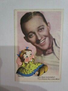 bing crosby old portuguese rare postcard