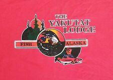 Alaska Yukatat Lodge fishing hunting vintage t shirt 2XL outdoor wildlife