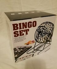 Bingo Game Set With Cage Numbered Balls Tokens Cards Brand New