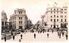 LIMA, PERU, AVENIDA NICHOLAS DE PIEROLA, CARS, PEOPLE, REAL PHOTO PC c 1930-40's