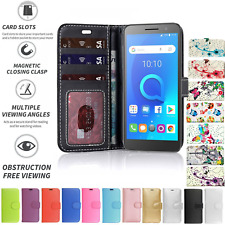 For Alcatel 1 Phone Case Flip Book Pouch Wallet Cover Leather