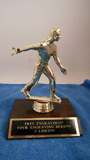 HORSESHOE MALE PLAYER TROPHY AWARD FIRST PLACE-FREE ENGRAVING!!!