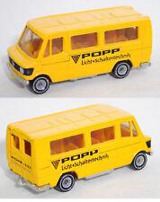 Siku Super 1624 Mercedes-Benz 208 Bus POPP / Licht + Schaltertechnik Werbemodell