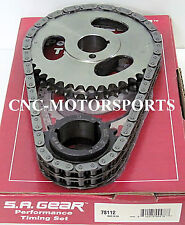 Pontiac 326 389 400 428 455 SA Gear Double Roller Timing Chain 3 Keyway