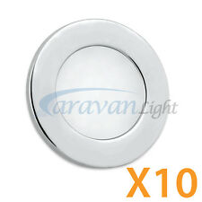 LED Downlights Recessed Mounting Under Cabinet Kitchen Area Roof Lamp Pack of 10