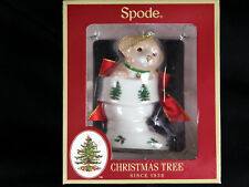 Spode Christmas Tree Puppy Dog in Stocking Ornament New in Box