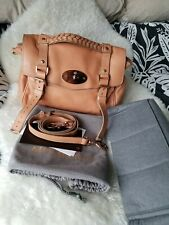 Mulberry Alexa Hand Bag Regular Plaster Pink satchel cross body with liner