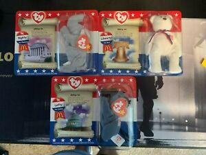 Mcdonald's Happy Meal American Trio Beanie Babies Set of 3 Read Description