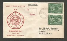 1960 Childen's Day registered FDC First Day cover Children's Day 1957 & 1959