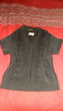 Jumper V Neck & Short sleeve In Grey By T U.Women's Size 16.New With Tags.