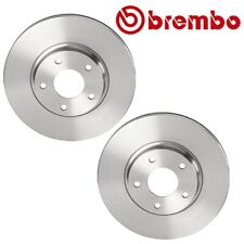 Pair Set of 2 Front Vented Disc Brake Rotors 296 mm Brembo For Altima I35 Maxima