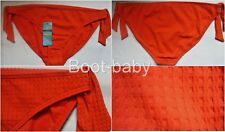 M&S Orange textured Hipster  Mock Tie Side Bikini Bottoms Size 18 BNWT Holiday