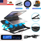 Gaming Laptop Slim Cooling Pad Stand Dual USB Fan Cooler 6 Fans for Notebook