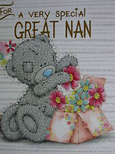 To a Great Nan - Oblong - Tatty Teddy Me to You - Birthday Card