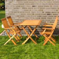 Garden Sitting, Table Mit 4 Chairs Set Garden Furniture Wood 5 pcs seating area