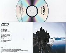 ARCHIVE RESTRICTION RARE 12 TRACK PROMO CD