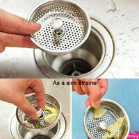 Küche Edelstahl Waschbecken Abwasser Sieb Abfluss-stecker Stopfen R8Q6 P1J3