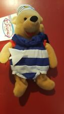 "Disney 8"" Nautical Pooh Bean Bag Beanie Winnie Sailor Suit Sail Boat Bear NIB"