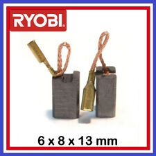 Le lot de 2 balais charbons RYOBI 6 x 8 x 13 mm cjs150 G600 g600i g1001a g1005 g