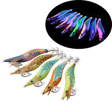10pcs Luminous Squid Jigs Lure Fishing Shrimp Lure Bait Jigs Octopus 2.5# 3.0#