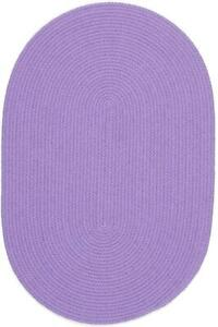 Happy Braids Bright Violet Solid Kids Play Space Stain Resistant Braided Rug