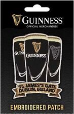 Guinness Three Pints  iron-on / sew-on cloth patch 60mm x 70mm *MULTI BUY OFFER*