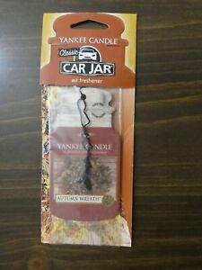 Yankee Candle Car Jar Air Freshener Hanger in Autumn Wreath Sealed