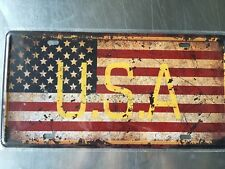 USA Vintage Metal Car Decorative License Plate United States Home Decor Signs