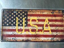USA Vintage Metal Car Decorative License Plate United States Home Decor