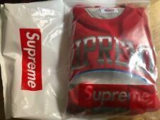 Supreme x Champion rossa red felpa pullover TG L large nuova new