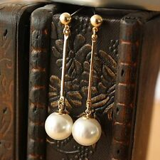 Rings`Ears Golden Nails End Long Pendant Pearl Retro Light Marriage C7