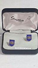 Stratton of London Shield Shaped Cufflinks Boxed London Coat of Arms No38