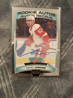 2019-20 O-Pee-Chee Platinum Rookie Auto #R-TH Taro Hirose Detroit Red Wings