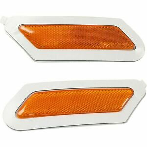 FITS AUDI Q5 2018-2020 RIGHT LEFT FRONT SIDE REFLECTORS MARKER LIGHT LAMP PAIR