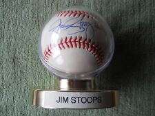 JIM STOOPS AUTOGRAPHED SIGNED BASEBALL Colorado Rockies Pitcher