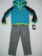 Nwt Boy 4 / 4T Nike Outfit - Hooded Fleece Top and Straight Fit Therma Pant