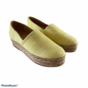 Naturalizer Size 8 Thea Slip-On Platform Espadrilles Bright Spring Comfort NWOT