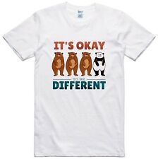 Funny Panda T Shirt It's Ok To Be Different Statement Slogan Cotton Tee