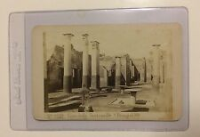 CDV Pompei Buildings Ruins Antique Photograph Pompeii GEORGES SOMMER