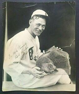 """Roy Johnson Signed 7.5x9.5"""" Photo Detroit Tigers NY Yankee 1936 WS CHAMP MLB ROY"""