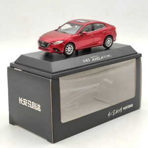 1/43 Mazda 3 AXELA Sedan Red Diecast Model Car Auto Toys Gift