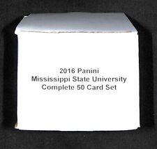 2016 Panini Collegiate_Mississippi State University_Complete 50 Card Set