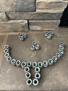 Used set 32 GM GMC Chevrolet Sierra Silverado Factory OE OEM Wheel Lug Nuts Nut
