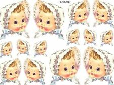 ViNtaGe SweeT BaBy WiTh BoNneT ShaBby WaTerSliDe DeCals