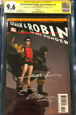 FRANK MILLER & JIM LEE 4X ENTIRE TEAM SIGNED All Star Batman & Robin #10 CGC 9.6