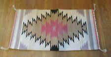 """Old 1950s Native American Navajo Saddle Blanket 39"""" x 19"""" From Estate"""