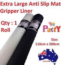 1 Anti Non Slip Mat Grip Roll Matting Cabinet Liner Kitchen Drawer 110cm X 200cm