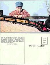 AMERICAN FLYER TRAIN FRONTIERSMAN POST CARD